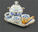 Re16435 - Blue tureen with tray