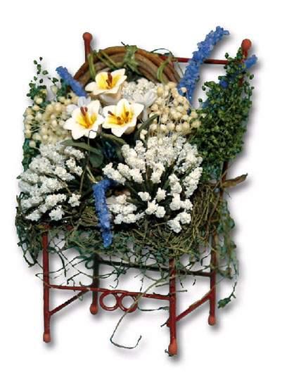 Ch36160 - Sedia con fiori