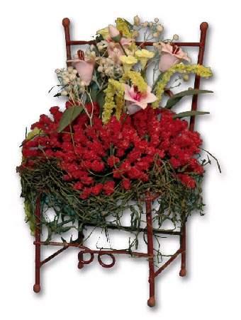 Ch36161 - Sedia con fiori