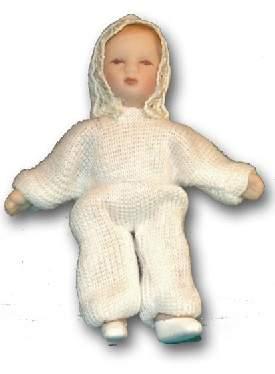Tc0068 - Bébé vêtu d une robe blanche