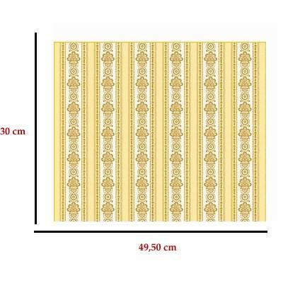 Mm41153 - Rayures jaunes décorées