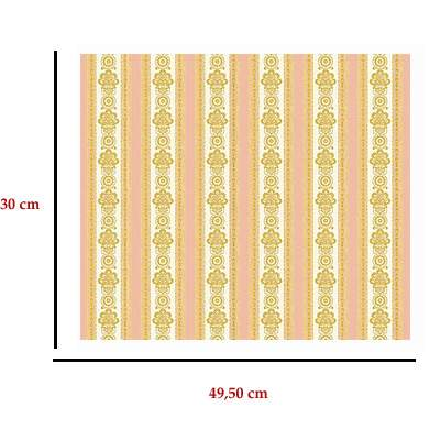Mm41154 - Rayures saumon décoré