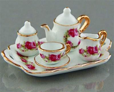 Re16215 - Set de cafe con rosas