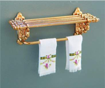 Accessori per case di bambole for Accessori bagno dorati