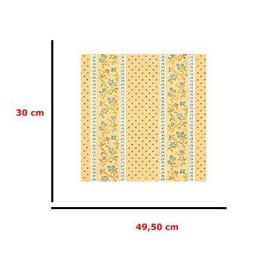 Mm41187 - Papier orange avec des fleurs
