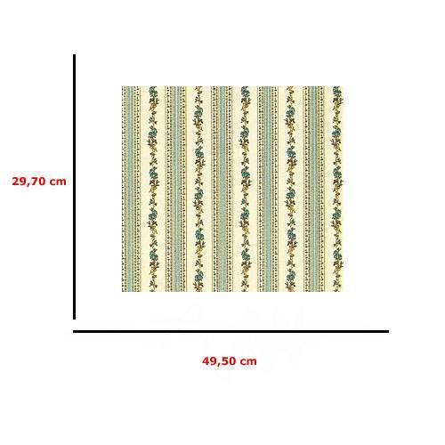 Mm41190 - Papier rayures et fleurs