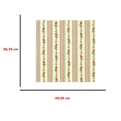 Mm41191 - Papier rose avec des fleurs