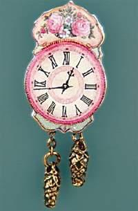 Re14055 - Horloge avec des roses