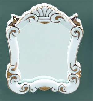 Re16246 - Espejo barroco blanco