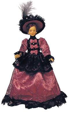 Hb0032 - Dama vestido morado
