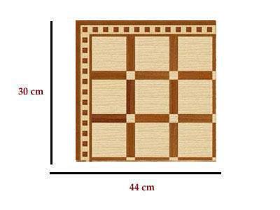 Em4411 - Parkettpapier mit Quadraten