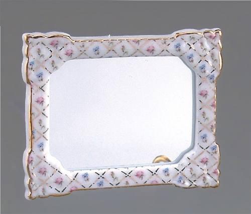 Re16286 - Espejo flores rosas y azules