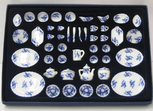 Vg29826 - Vajilla 50 piezas azul