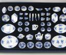Vg29826 - 50 blue dishes