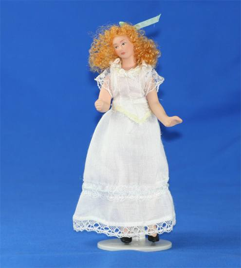Sl1103 - Mujer vestido blanco