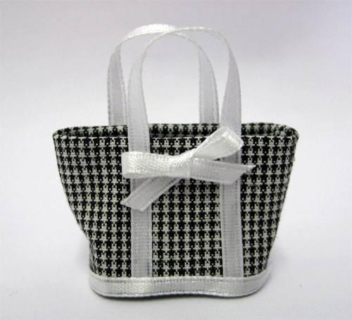 Tc0450 - Bolso negro y blanco