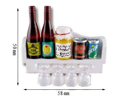 Tc0704 - Mensola con barattoli e bicchieri