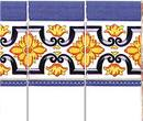 Wm34328 - Papel azulejos decorados