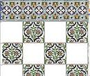 Wm34423 - Papel azulejos decorados