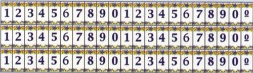 Wm34896 - Numeros ceramicos