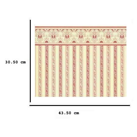 Jh02 - Papier à rayures bordeaux