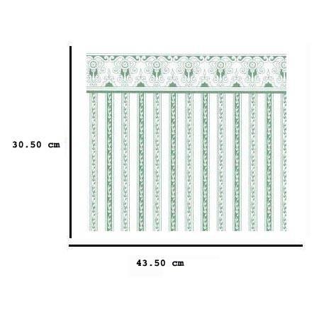 Jh03 - Papel rayas verdes
