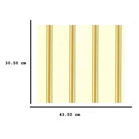 Jh05a - Papel amarillo con rayas