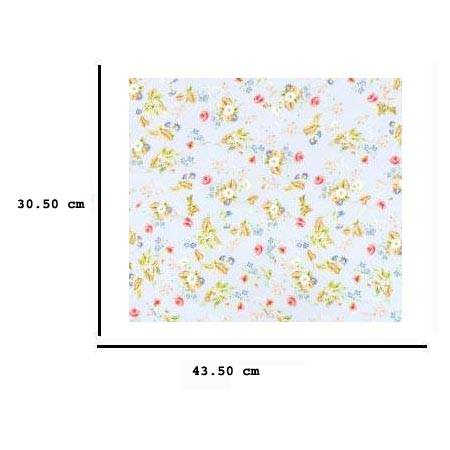 Jh74 - Celeste Paper with Flowers