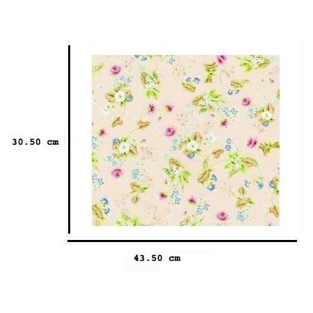 Jh75 - Papel rosa con flores