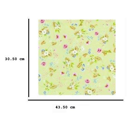 Jh76 - Papel verde con flores