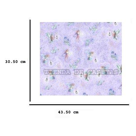 Jh84 - Papel lila con hadas