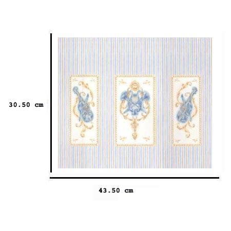 Jh86 - Papier à rayures bleues