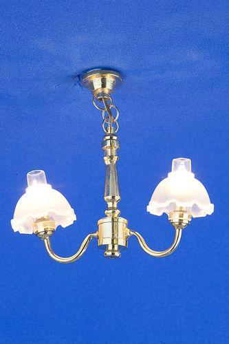 Sl3256 - Lampada due paralumi