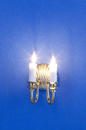 Lp0046 - Lamp with 2 candles and a seashell