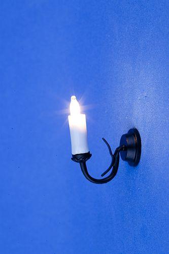 Lp0116 - Applique à bougie noire