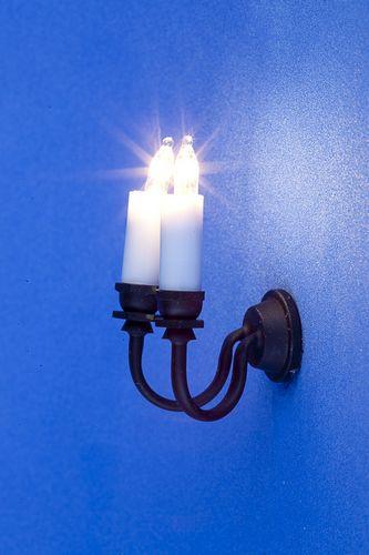Sl3280 - Lampara dos velas negras