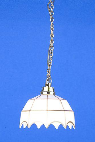 Sl3281 - Lámpara tiffany blanca