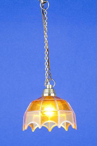 Sl3282 - Lámpara tiffany amarilla