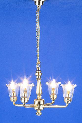 Lp0057 - Lampe 4 tulipes transparentes