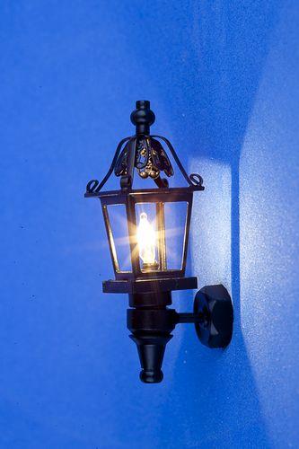 Sl3328 - Lampada nera da parete