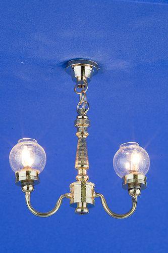Sl3345 - Lampada da soffitto 2 paralumi