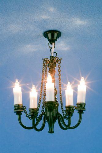 Lp0073 - Plafonnier noir 5 bougies