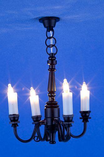 Sl3524 - Lampada 4 bracci neri