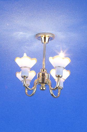 Sl3549 - Lampada 4 paralumi