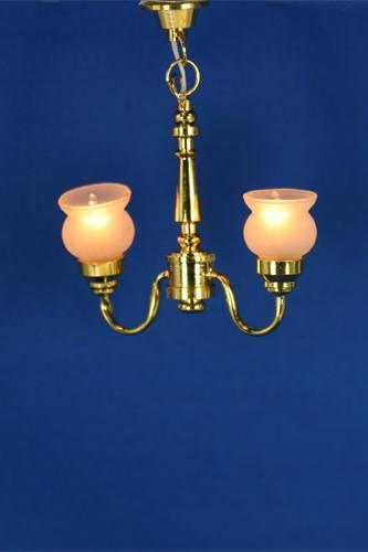Sl3555 - Lampada due paralumi