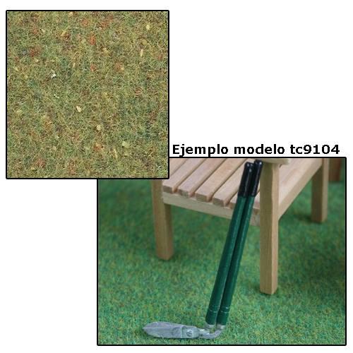 Tc9107 - Cesped verde floreado