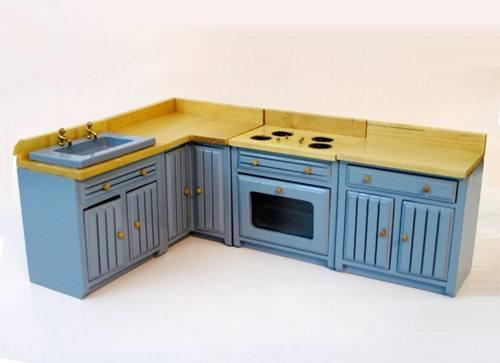 Cj0020 - Cuisine bleue de 4 pièces