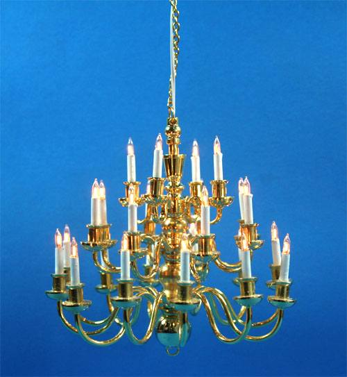 Sl3995 - Chandelier with 24 candles