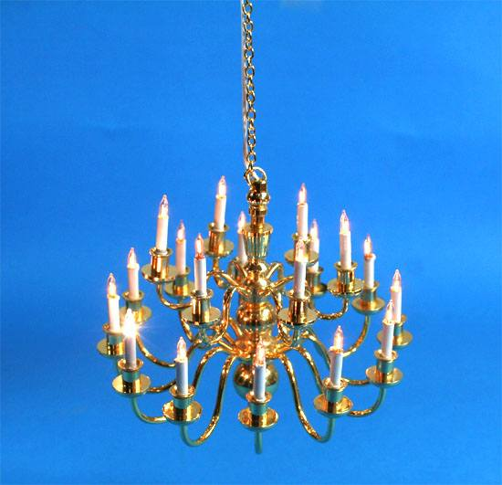 Sl3996 - Lampada da soffitto 18 candele
