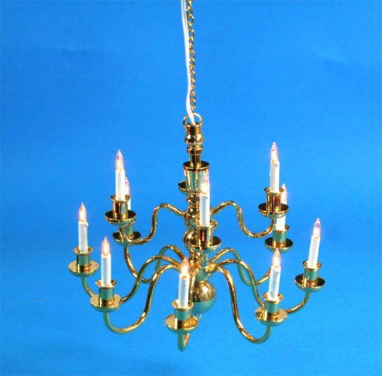 Sl3997 - Lámpara de techo 12 velas